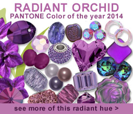 Swarovski Pantone Color for 2014 Radiant Orchid - see our collection